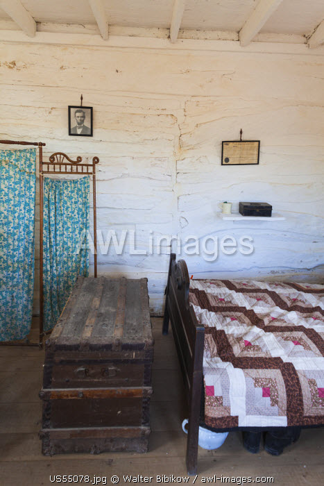 USA, Nebraska, Beatrice, Homestead National Monument of America, Homesteader's Cabin