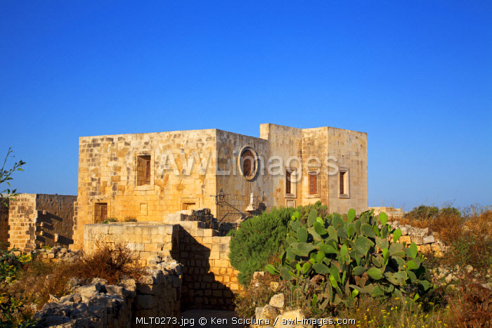 Mediterranean Europe, Maltese Islands, Gozo. Buildings dating back to past rule in the Citadella