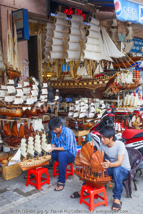 Vietnam, Ho Chi Minh City, Store Selling Model Ships and Boats