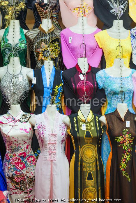 Vietnam, Ho Chi Minh City, Ben Thanh Market, Clothing Stall