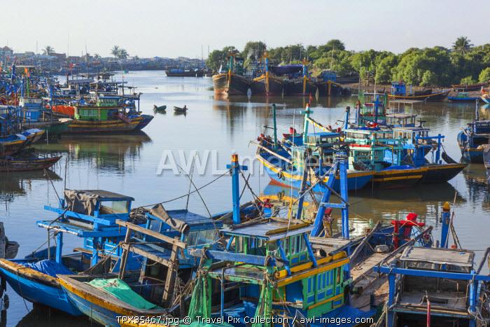 Vietnam, Mui Ne, Fishing Boat Harbour at Phan Thiet