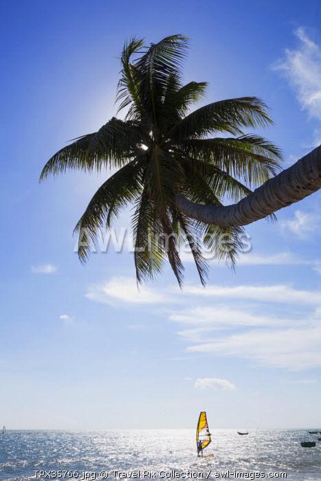 Vietnam, Mui Ne, Mui Ne Beach, Windsurfer