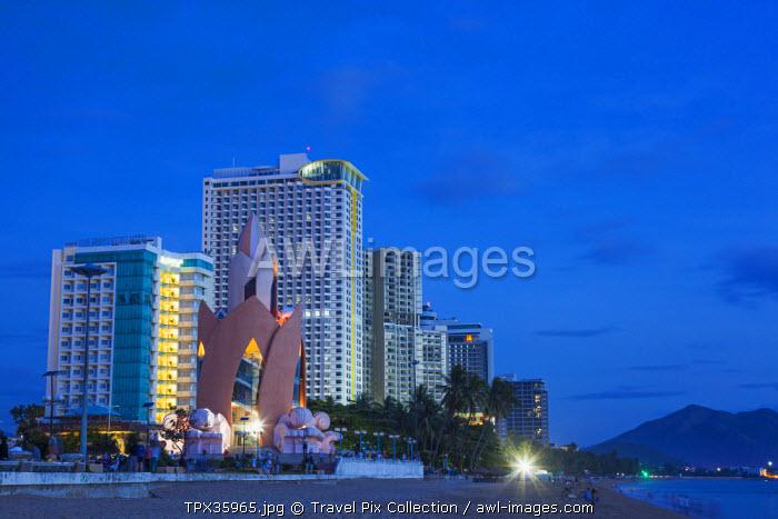 Vietnam, Nha Trang, Beachfront Skyline