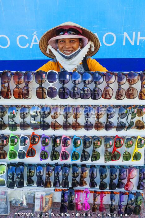 Vietnam, Nha Trang, Woman Selling Sunglasses
