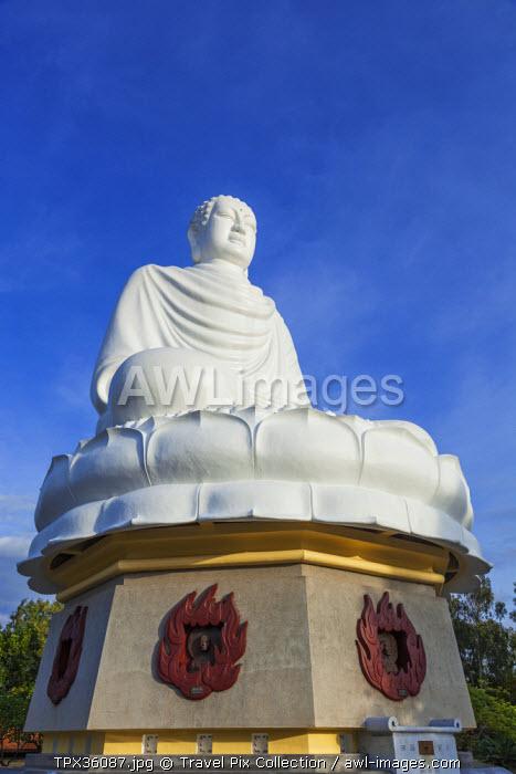 Vietnam, Nha Trang, Long Son Pagoda, White Buddha