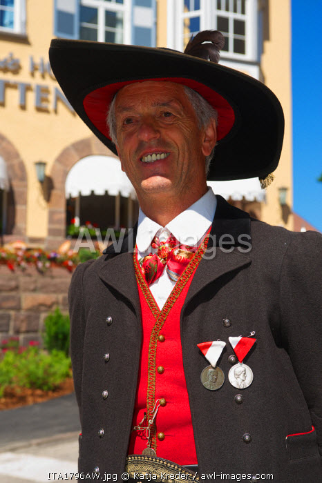 Traditional Costumes, Val Gardena,  Trentino, South Tyrol, Italy