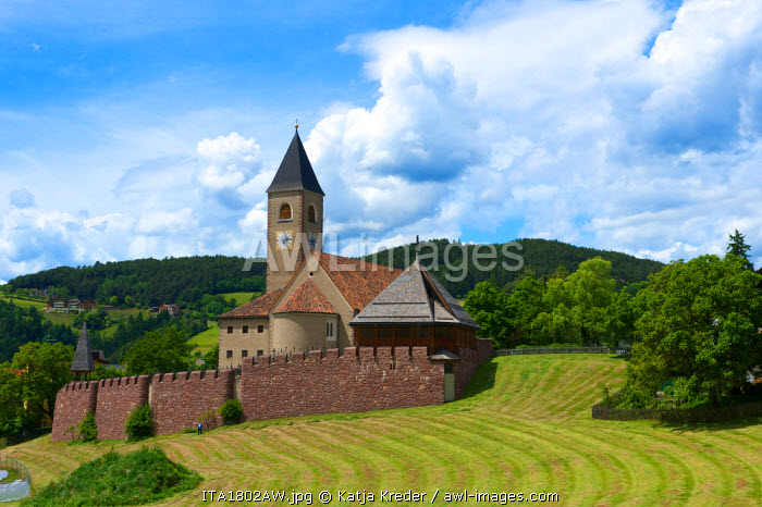 Castle in Seis nearby Kastelruth, Trentino, South Tyrol, Italy