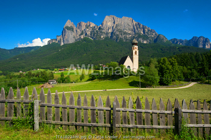 St. Konstantin in Voels, Seiser Alm, Trentino, South Tyrol, Italy