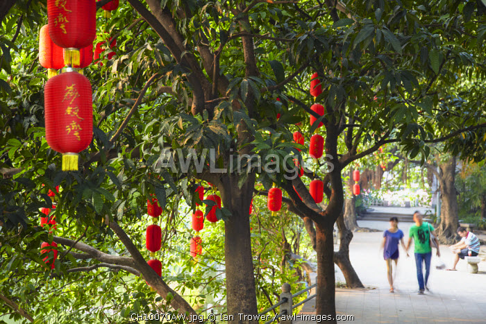 Lanterns in Liwan Park, Guangzhou, Guangdong, China