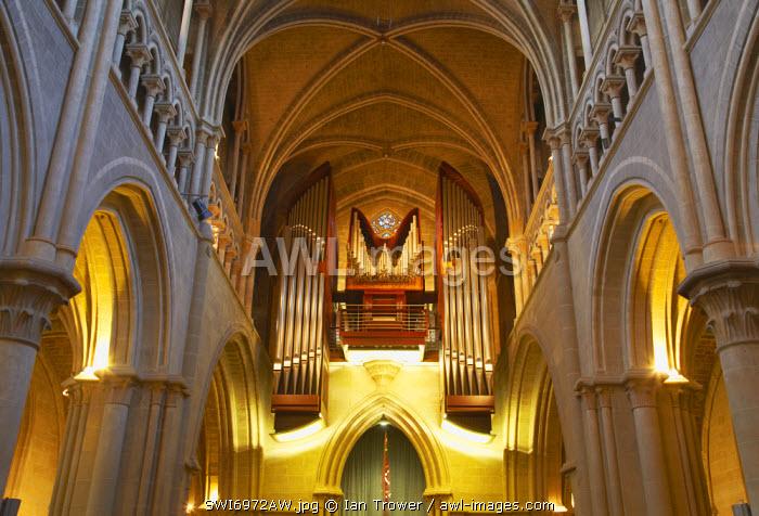 Organ inside Lausanne Cathedral, Lausanne, Vaud, Switzerland