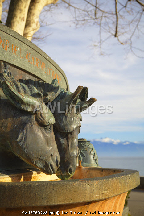 Drinking fountain, Ouchy, Lausanne, Vaud, Switzerland