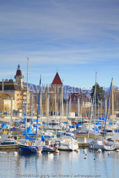 Ouchy harbour, Lausanne, Vaud, Switzerland