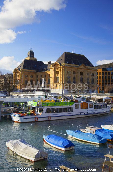 Boats in harbour, Neuchatel, Switzerland