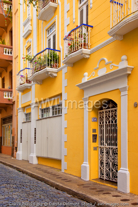 Colorful buildings in old San Juan, Puerto Rico.