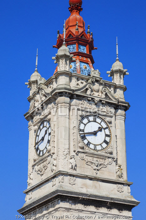 England, Kent, Margate, Seafront Victorian Clock Tower
