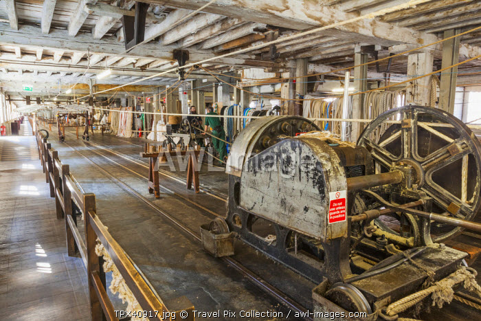 England, Kent, Rochester, Chatham, Chatham Historic Dockyard, The Ropery, Rope Manufacturing