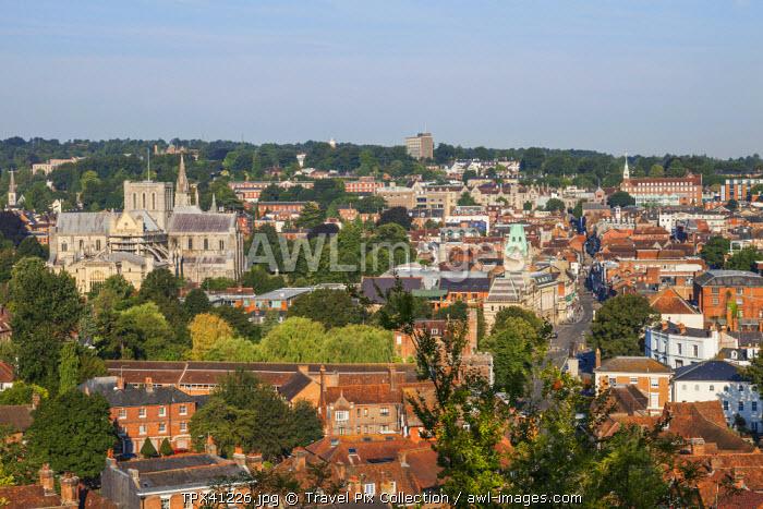 England, Hampshire, Winchester, City Skyline