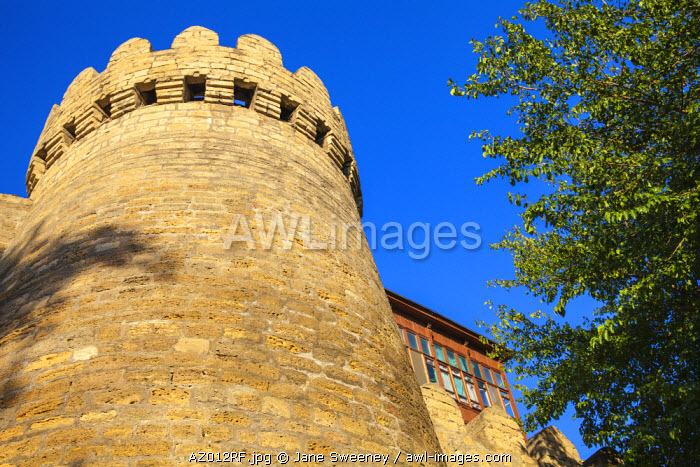 awl-images.com - Azerbaijan / Azerbaijan, Baku, 12th-century defensive walls of The Old Town - Icheri Sheher,
