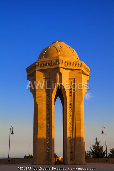 Azerbaijan, Baku, Sahidlar Xiyabani - Martyr's Lane, Eternal Flame Memorial