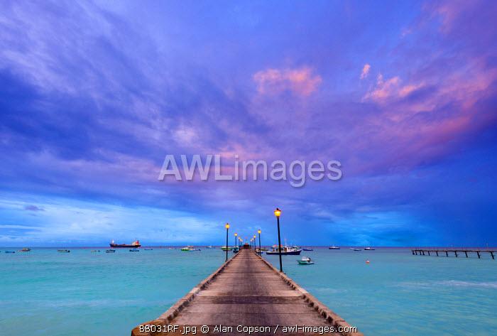 Caribbean, Barbados, Oistins, Oistins Beach, Fishing Boat Jetty