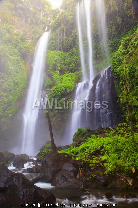 Indonesia, Bali, Central Mountains, Sekumpul Waterfall