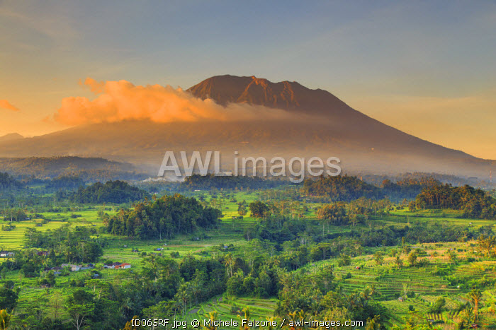 awl-images.com - Indonesia / Indonesia, Bali, Sidemen, Sidemen Valley and Gunung Agung Volcano