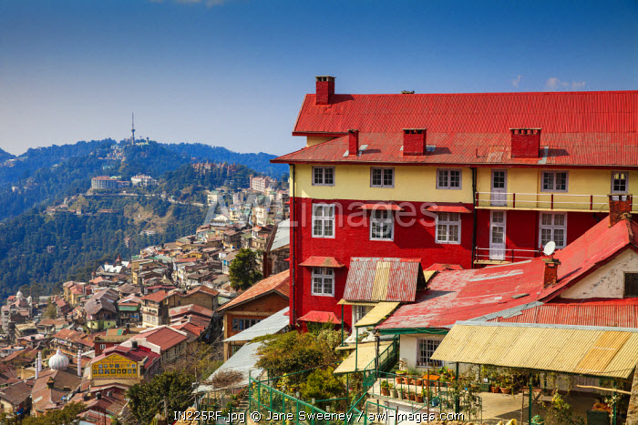 awl-images.com - India / India, Himachal Pradesh, Shimla, View of City center