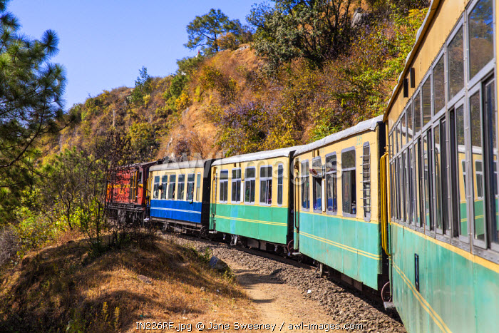 awl-images.com - India / India, North-West India , The Kalka-Shimla Railway, The Himalaya Queen toy train