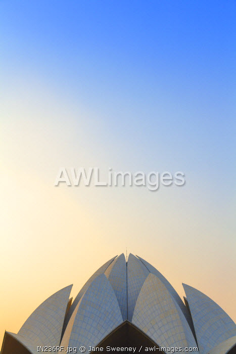 awl-images.com - India / India, Delhi, New Delhi, Bahai House of Worship know as the The Lotus Temple