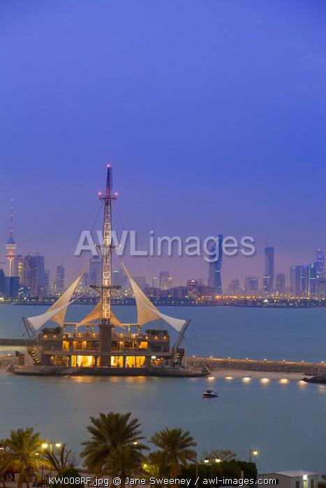 Kuwait, Kuwait City, Salmiya, Marina Waves Leisure complex - a three-storey leisure complex specialising in land and sea activities