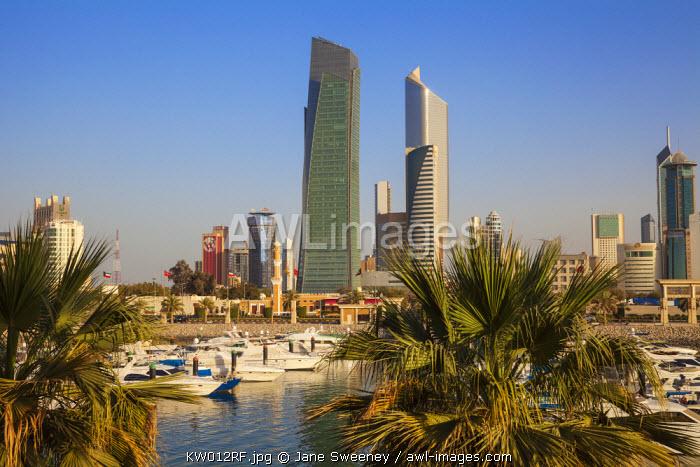 Kuwait, Kuwait City, City view from Souk Shark Shopping Center and Marina