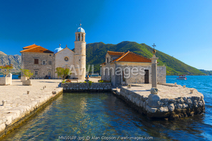 Montenegro, Bay of Kotor, Perast, Our Lady of the Rocks Island, Church of Our Lady of the Rocks