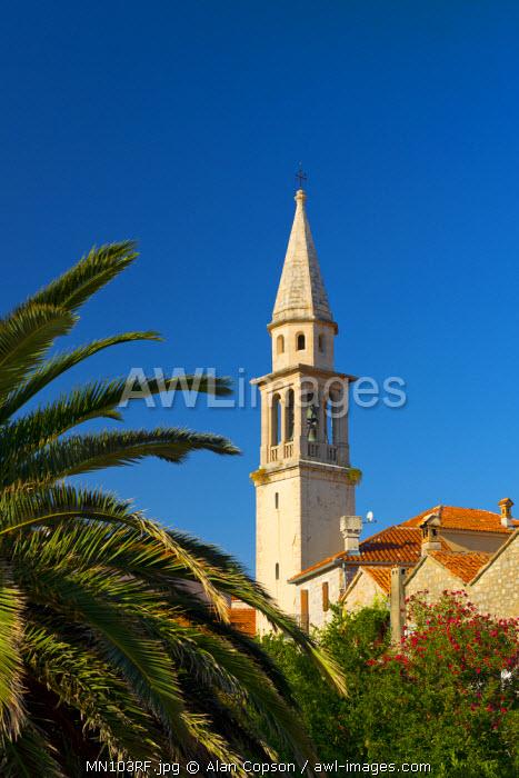 Montenegro, Budva, Old Town, Stari Grad, Sveti Ivan, Church of Saint John