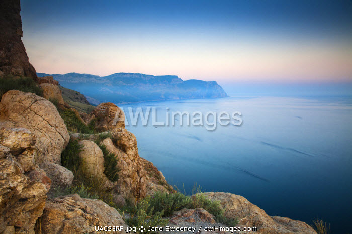 Ukraine, Crimea, Coastline of Balaklava