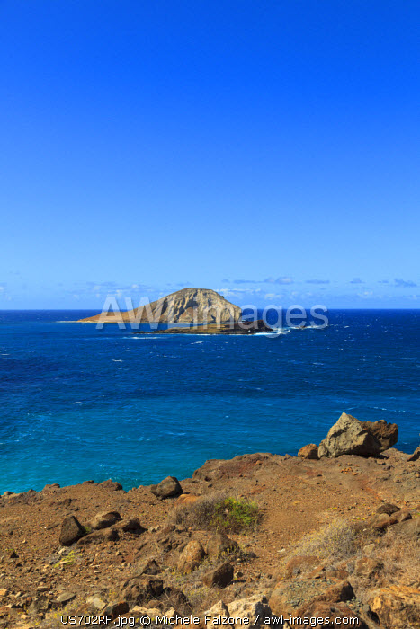 USA, Hawaii, Oahu, Makapuu Point, Turtle and Rabbit Islands