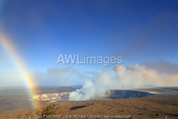 USA, Hawaii, The Big Island, Hawaii Volcanoes National Park (UNESCO Site), Halema'uma'u Crater