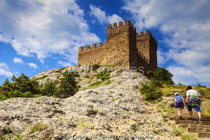 Ukraine, Crimea, Sudak, Genoese fortress