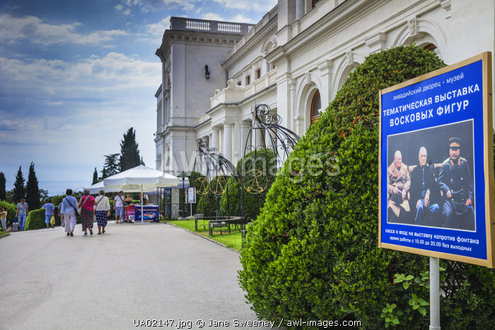 Ukraine, Crimea, Livadia Palace, location of the Yalta conference in 1945talks took place with Stalin from USSR, Roosevelt from USA and Churchill from Great Britain