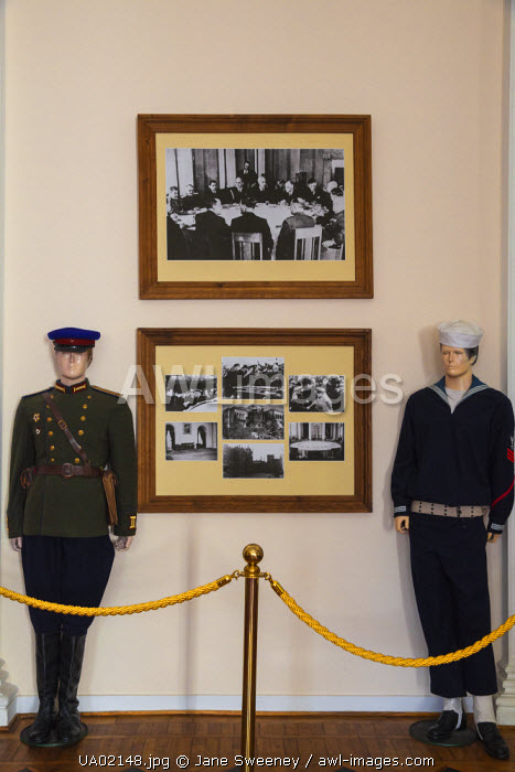 awl-images.com - Ukraine / Ukraine, Crimea, Livadia Palace, location of the Yalta conference in 1945talks took place with Stalin from USSR, Roosevelt from USA and Churchill from Great Britain