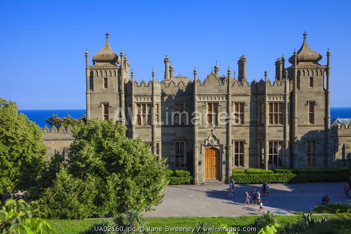 Ukraine, Crimea,  Yalta, Aluppka Palace designed  by English architect Edward Blorewho also designed Buckingham Palace