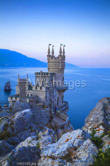 awl-images.com - Ukraine / Ukraine, Crimea, Yalta, Gaspra, The Swallow's Nest castle perched on Aurora Clff