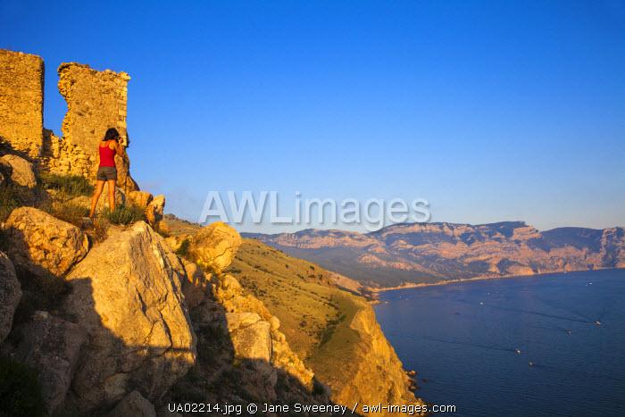 Ukraine, Crimea, Balaklava, Cembalo Fortress