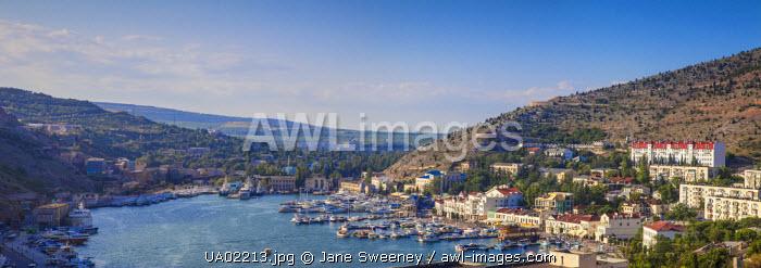 Ukraine, Crimea, View of Balaklava Bay