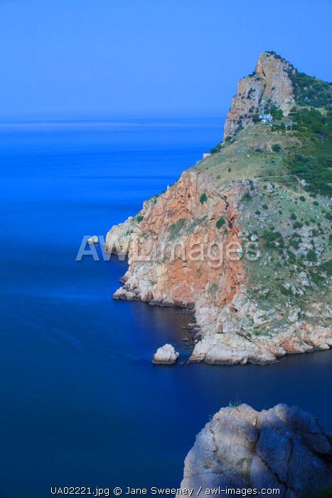 Ukraine, Crimea, Balaklava, Sea entrance to Balaklava bay
