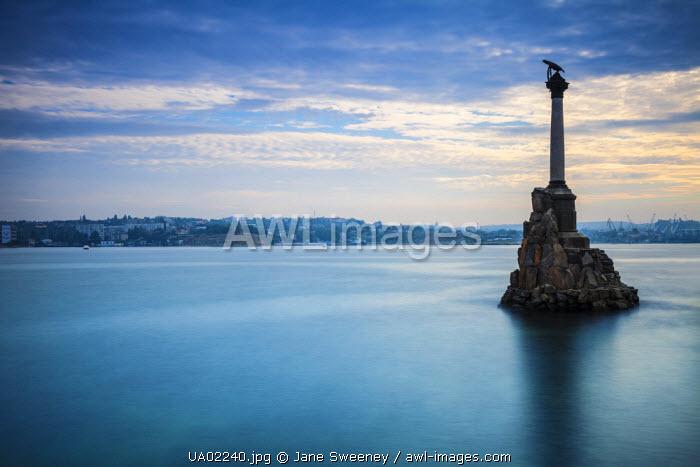 Ukraine, Crimea, Sevastopol, Eagle Column - Monument to the Scuttled Ships