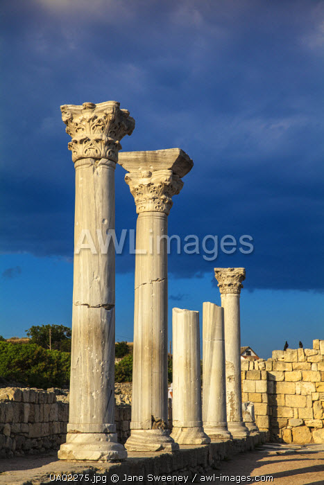awl-images.com - Ukraine / Ukraine, Crimea, Sevastopol, Khersoness, The columns and portico of an early Christian church
