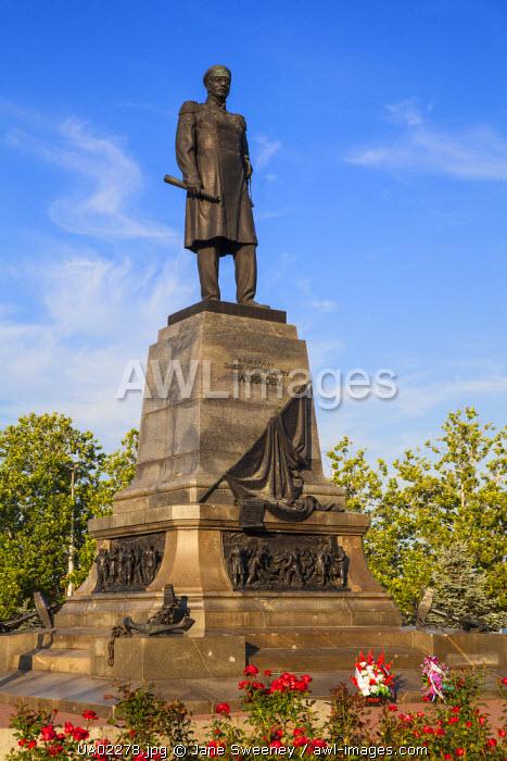 Ukraine, Crimea, Sevastopol, Nakhimov square, Admiral Nakhimov monument