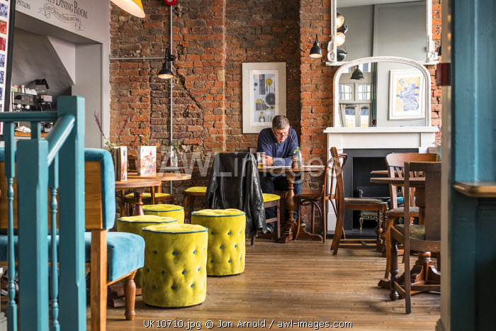 Interior of a pub in Notting Hill, London, England