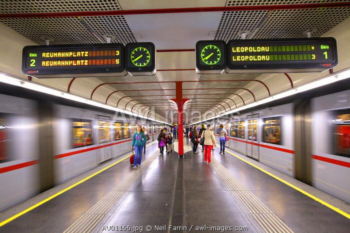 U-Bahn, Vienna, Austria, Central Europe