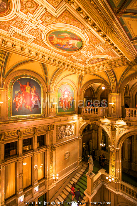 Grand Staircase, Vienna State Opera House, Vienna, Austria, Central Europe